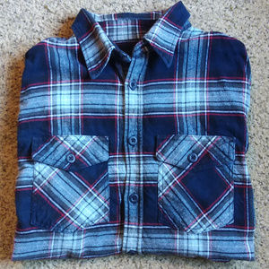 Men's Double Breasted Thick Flannel